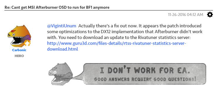 배틀필드 1 DirectX 12 오류 – Lamanus' Archive