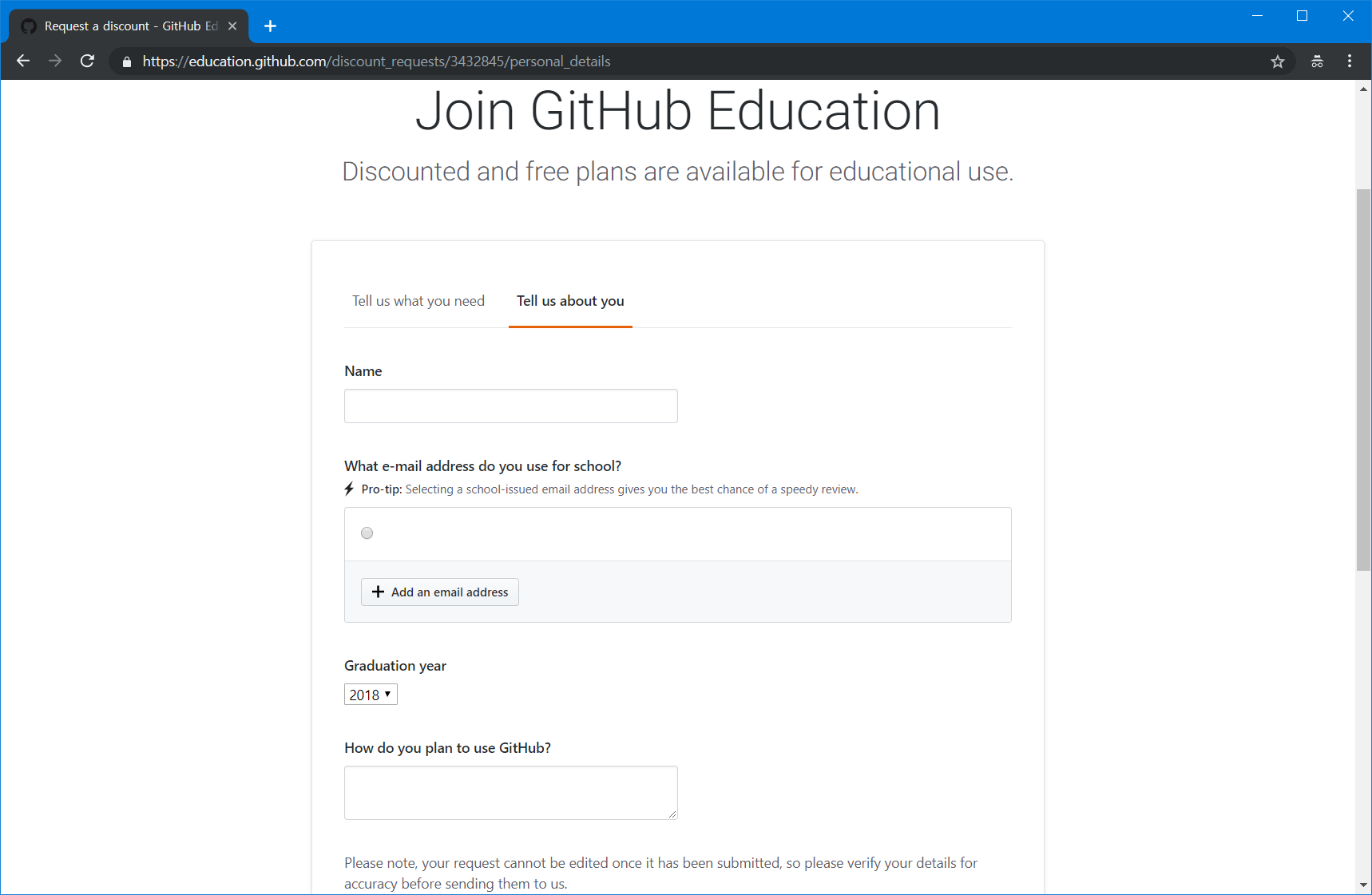 학생들을 위한 AWS 크레딧 받기 – Github Developer Pack